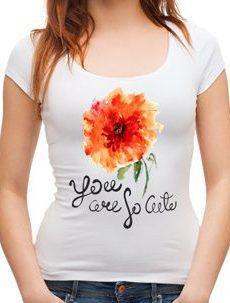 блуза с оранжаво цвете