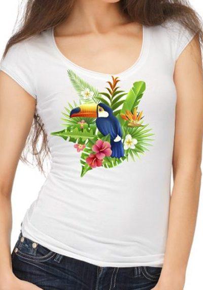 Блуза с папагал