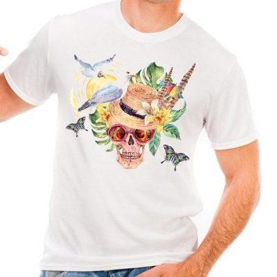 Мъжка тениска с череп