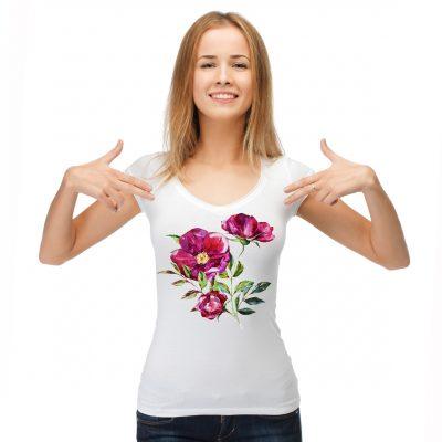 Блуза с рози