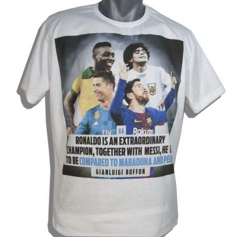 Тениска с Роналдо, Меси, Пеле и Марадона